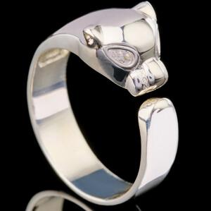 Серебряное кольцо 925 пробы с фианитами арт. 508к