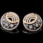 Серебряные серьги 925 пробы с эмалью арт. 621с