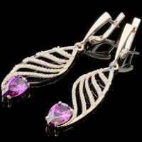 Серебряные сережки с фианитами арт. 717с