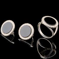Серебряные серьги 925 пробы с фианитами арт. 724с