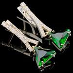 Серебряные сережки с фианитами арт. 726с