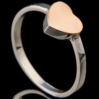 Серебряное кольцо 925 пробы с золотом арт. 727к