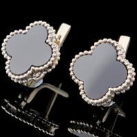 Серебряные сережки с черным камнем арт. 730с