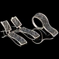 Серебряный браслет черненый арт. 721б