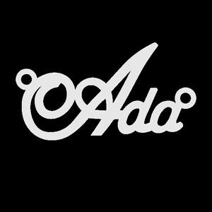 Серебряное колье с именем Ada