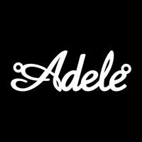 Серебряное колье с именем Adele