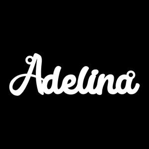 Серебряное колье с именем Adelina