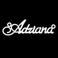 Серебряное колье с именем Adriana