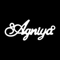 Серебряное колье с именем Agniya