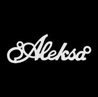 Серебряное колье с именем Aleksa