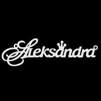 Серебряное колье с именем Aleksandra