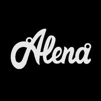 Серебряное колье с именем Alena
