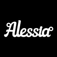 Серебряное колье с именем Alessia