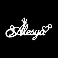 Серебряное колье с именем Alesya