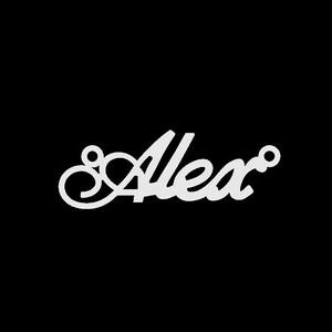 Серебряное колье с именем Alex