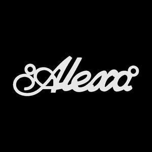 Серебряное колье с именем Alexa