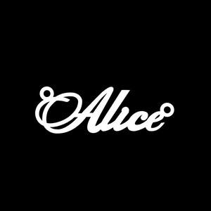 Серебряное колье с именем Alice