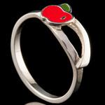 Серебряное кольцо 925 пробы с эмалью арт. 569к
