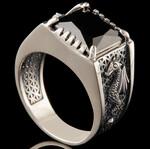 Перстень мужской из серебра с драконом 925 пробы арт. 773к