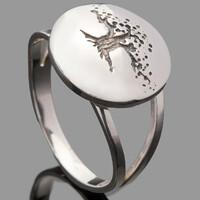 Серебряное кольцо Древо жизни 925 пробы арт. 753к