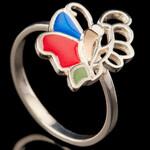 Серебряное кольцо с эмалью 925 пробы  арт. 559к