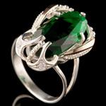 Серебряное кольцо 925 пробы с золотом арт. 650к