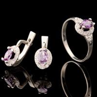 Серебряное кольцо с фианитами арт. 660к