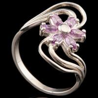 Серебряное кольцо с фианитами арт. 748к