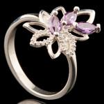 Серебряное кольцо с фианитами арт. 750к
