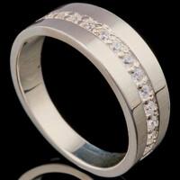 Серебряное кольцо с фианитами арт. 714к