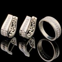 Серебряные серьги 925 пробы с фианитами арт. 714с