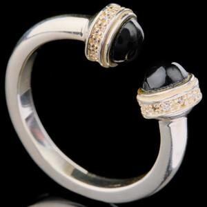 Серебряное кольцо 925 пробы с фианитами арт. 695к