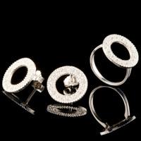 Серебряное кольцо с фианитами арт. 755к