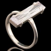 Серебряное кольцо с фианитами арт. 756к