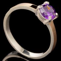 Серебряное кольцо 925 пробы с золотом арт. 432к