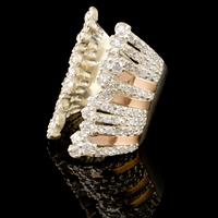 Серебряное кольцо 925 пробы с золотом арт. 521к