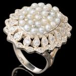 Кольцо серебряное 925 пробы с жемчугом арт. 530к