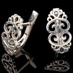 Серебряные серьги 925 пробы  арт. 579с