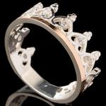 Серебряное кольцо Корона с фианитами арт. 541к