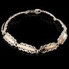 Серебряный браслет с золотыми вставками арт. 548б 16,5 см